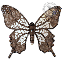 Mozaiekpakket 56 Vlinder Papallona Zwart/Zilver