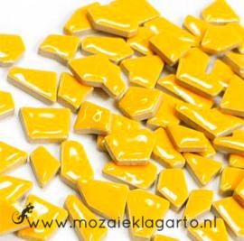 Keramiek Puzzelstukjes per 100 gram Warm Geel 101