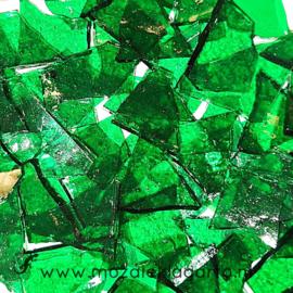 Gekleurde glasscherven Transparant Structuur Groen Y150-1t