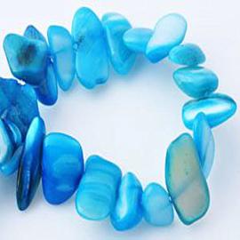 Schelpkralen onregelmatig 6-20 mm per 25 gram Turquoise