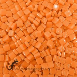 Mozaïek tegeltjes glas 8 x 8 mm Opaal per 50 gram Mandarijn 105