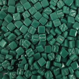 Mozaïek tegeltjes glas 8 x 8 mm Opaal per 50 gram Woudgroen 055
