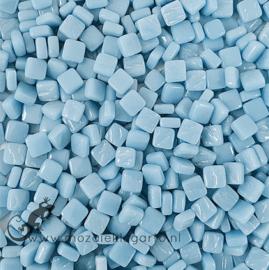 Mozaïek tegeltjes glas 8 x 8 mm Opaal per 50 gram Licht Aqua 061