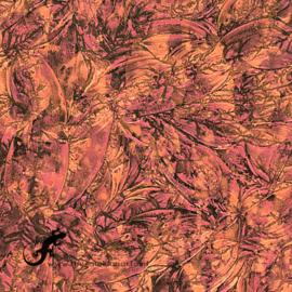 Van Gogh glas 5 x 15 cm Rood/Koper 780