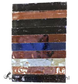 Tiffany Spiegelglas reepjes 1x6.5 cm per 10 Roze/Paars 010