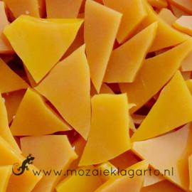 Gekleurde glasscherven Translucent Mango Geel  CAG041tl