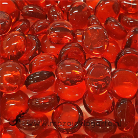 Glas Nugget Mini 9-13 mm Transparant 50 gram Rood 4364