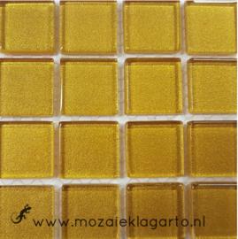Metaalglans 2x2 cm per 16 tegels Goud 042