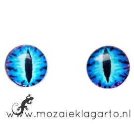 Cabochon/Plaksteen Oogjes per 2 Blauw/Aqua 300-15