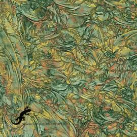 Van Gogh Glas 5 x 15 cm Groen/Koper/Goud 189