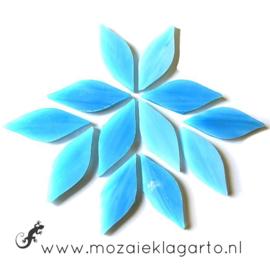 Bloemblaadjes Tiffanyglas 15x38x3 mm per 12 Aqua 059-1