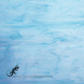 Glasplaat 20 x 20 cm Wit/Luchtblauw Semi Translucent SO833-51st