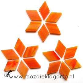 Wybertjes/Ruitjes 15x25 mm per 20 Oranje/Geel 071-2