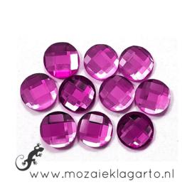 Glas facet geslepen rond 12 mm per 10  Violet 603