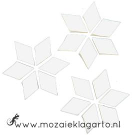 Wybertjes/Ruitjes 15x25 mm per 20 Wit 001-2