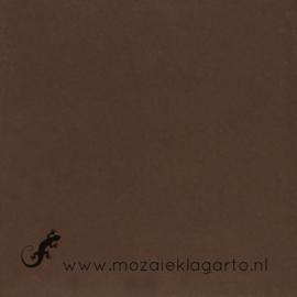 Geglazuurde mozaiektegel Mosa 15 x 15 cm Indisch Bruin 16800