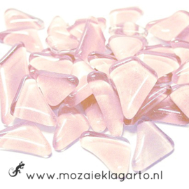 Mozaiek puzzelstukjes Soft Glas 100 gram Lichtroze 002
