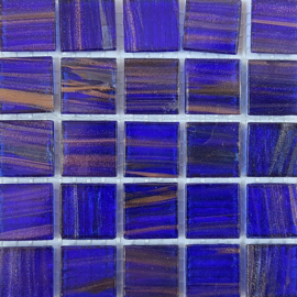 Goudader glastegels Saffierblauw per 25 tegels 019