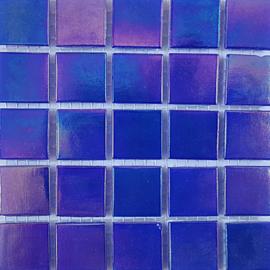 Saffierblauw Parelmoer 2 x 2 cm per 25 tegels