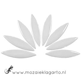Keramiek bloemblaadjes Groot per 8 Wit 003