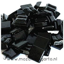 Basis  glastegeltjes 1 x 1 cm per 50 gram Zwart 049