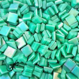 Mozaiek glastegeltjes 1 x 1 cm Parelmoer Jadegroen 026