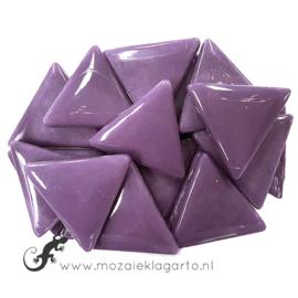 Glasmozaiek Driehoek 29 mm per 100 gram Paars 085