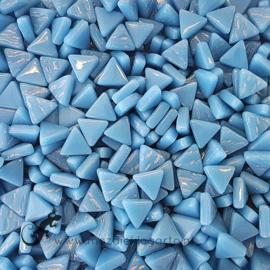 Glasmozaiek Driehoekjes 10 mm per 50 gram Helder Aqua 065
