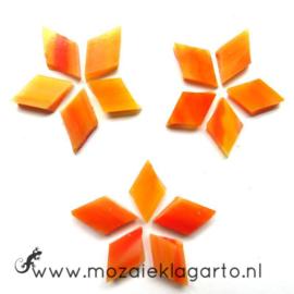 Wybertjes/Ruitjes 10x17 mm per 40 Oranje/Geel 071-1