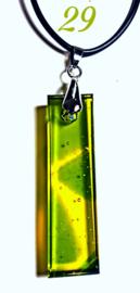 Handgemaakte glashanger Geel/Groen