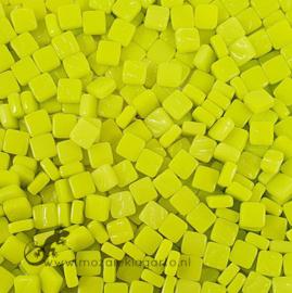 Mozaïek tegeltjes glas 8 x 8 mm Opaal per 50 gram Geelgroen 029