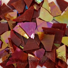 Gekleurde glasscherven Donkerrood Iriserend CAG14i