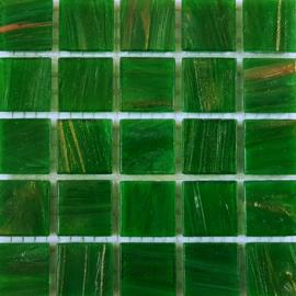 Goudader glastegels Malachiet Groen per 25 tegels 026