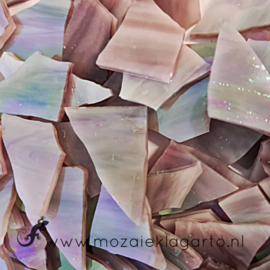 Gekleurde glasscherven Iriserend Roze - Paars CAG010i