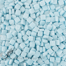 Mozaïek tegeltjes glas 8 x 8 mm Opaal per 50 gram Baby Aqua 059