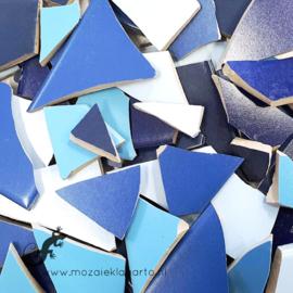 Mozaiek tegel scherven voor BINNEN EN BUITEN 1 kilo Blauwe Mix 001