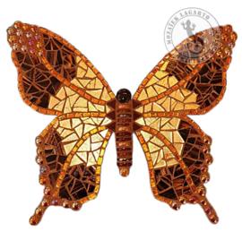 Mozaiekpakket 56 Vlinder Papallona Bruin/Goud
