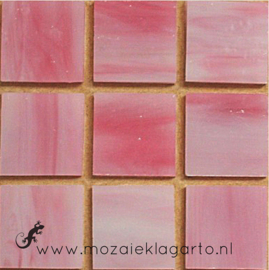 Tiffany glastegels 2x2 cm per 25 Roze 043