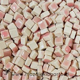Mini Keramiek tegeltjes 5x5 mm per 15 gram Roze 049