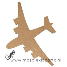 Ondergrond voor mozaiek Mini MDF Vliegtuig 008