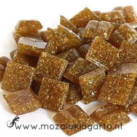 Basis  glastegeltjes 1 x 1 cm per 50 gram Middenbruin 034