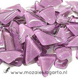 Mozaiek puzzelstukjes Soft Glas 100 gram Lila 005