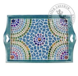 Dienblad Arcade Blauw/Groen 21x31 cm