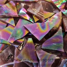 Gekleurde glasscherven Iriserend Gewelfd Paars CAG316i