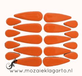 Keramiek druppel 2 maten 50 gram Oranje 006
