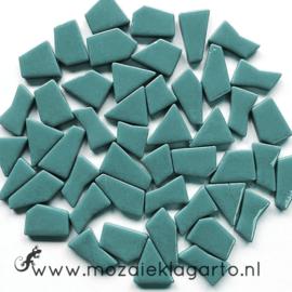 Mozaiek puzzelstukjes Glas 100 gram Zeegroen 014