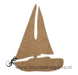Ondergrond voor mozaiek Mini MDF zeilboot 006