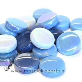 Glastegel Rond 20 mm per 100 gram Aqua Mix 002