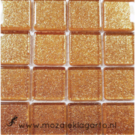 Glitter 2x2 cm per 16 tegels Koper 015
