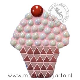 Mozaiekpakket 8 Magneet Cupcake